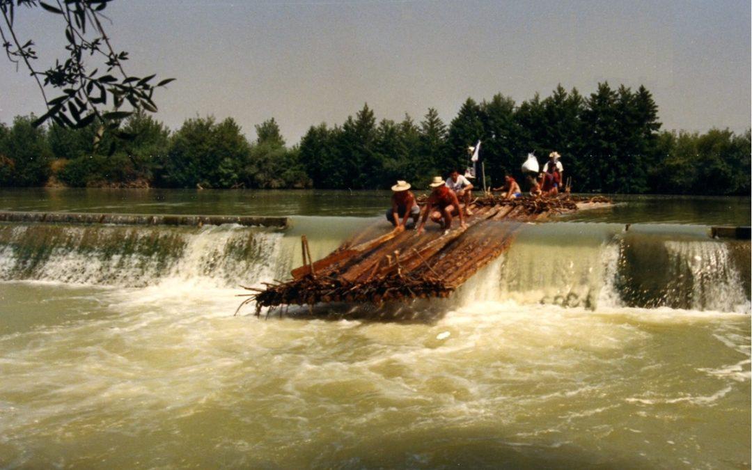 Viaje en almadia ríos Aragón y parcial Ebro año 1988