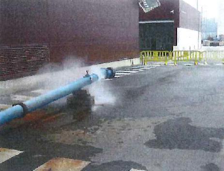 Aire comprimido en interior tubería de agua; efectos.